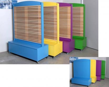 séparations colorées pour écoles